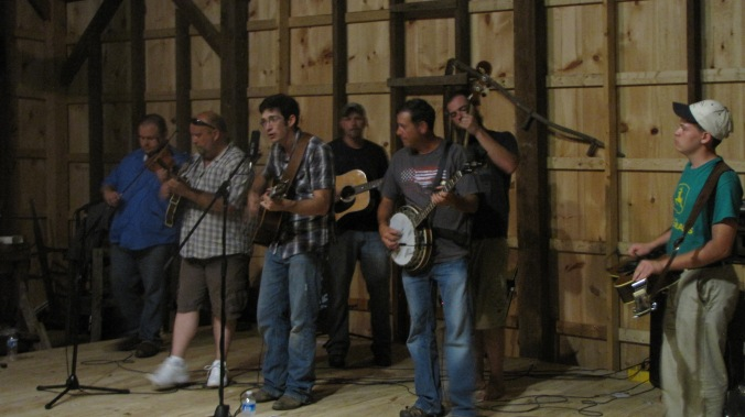 Lonesome Highway playing Bluegrass in the Barn last year at Fourth of July