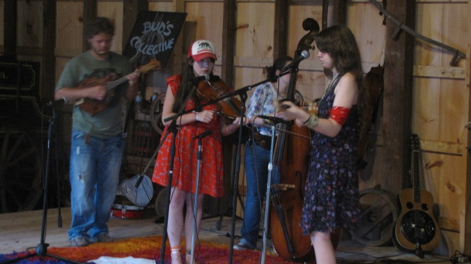 Banana Express playing at Bluegrass in the barn